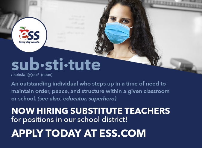 ESS is recruiting substitute teachers for the Centerpiont School District!